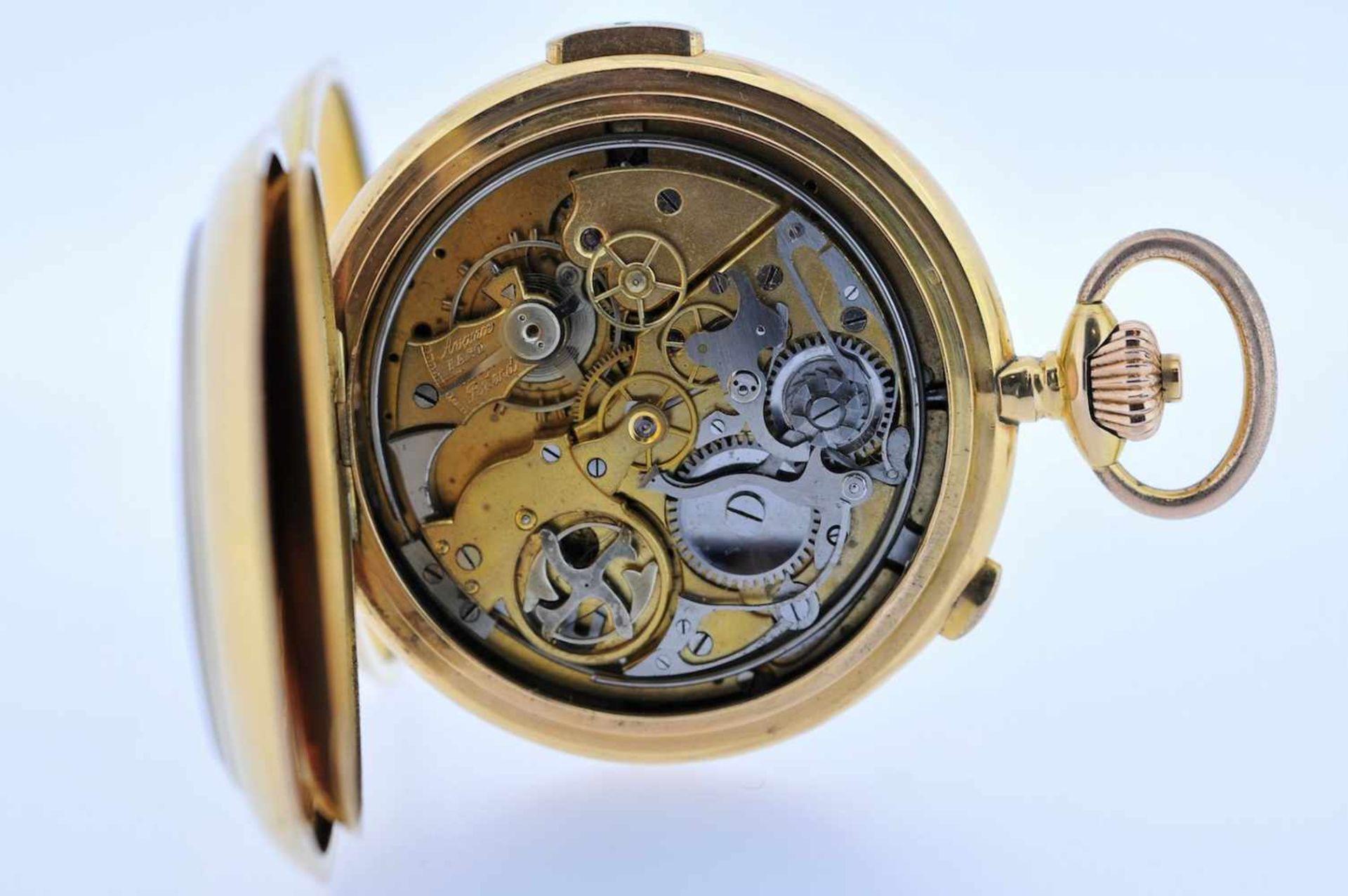 Los 35 - Minutenrepetierer Goldene 18 karätige Taschenuhr mit Minutenschlagwerk, Stoppfunktion,