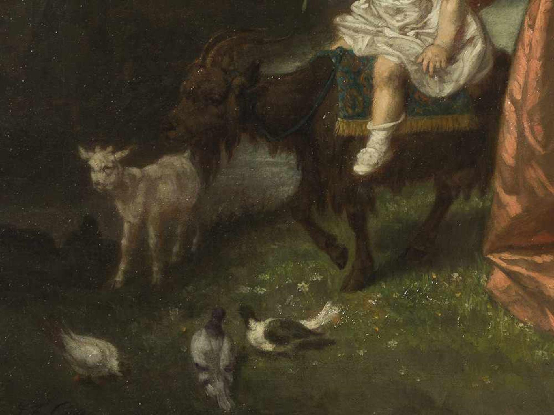 Los 62 - Jean-Francois Gose (1827-1870),Erste Reitstunde, Öl, 1860 Öl auf Leinwand, randdoubliert.