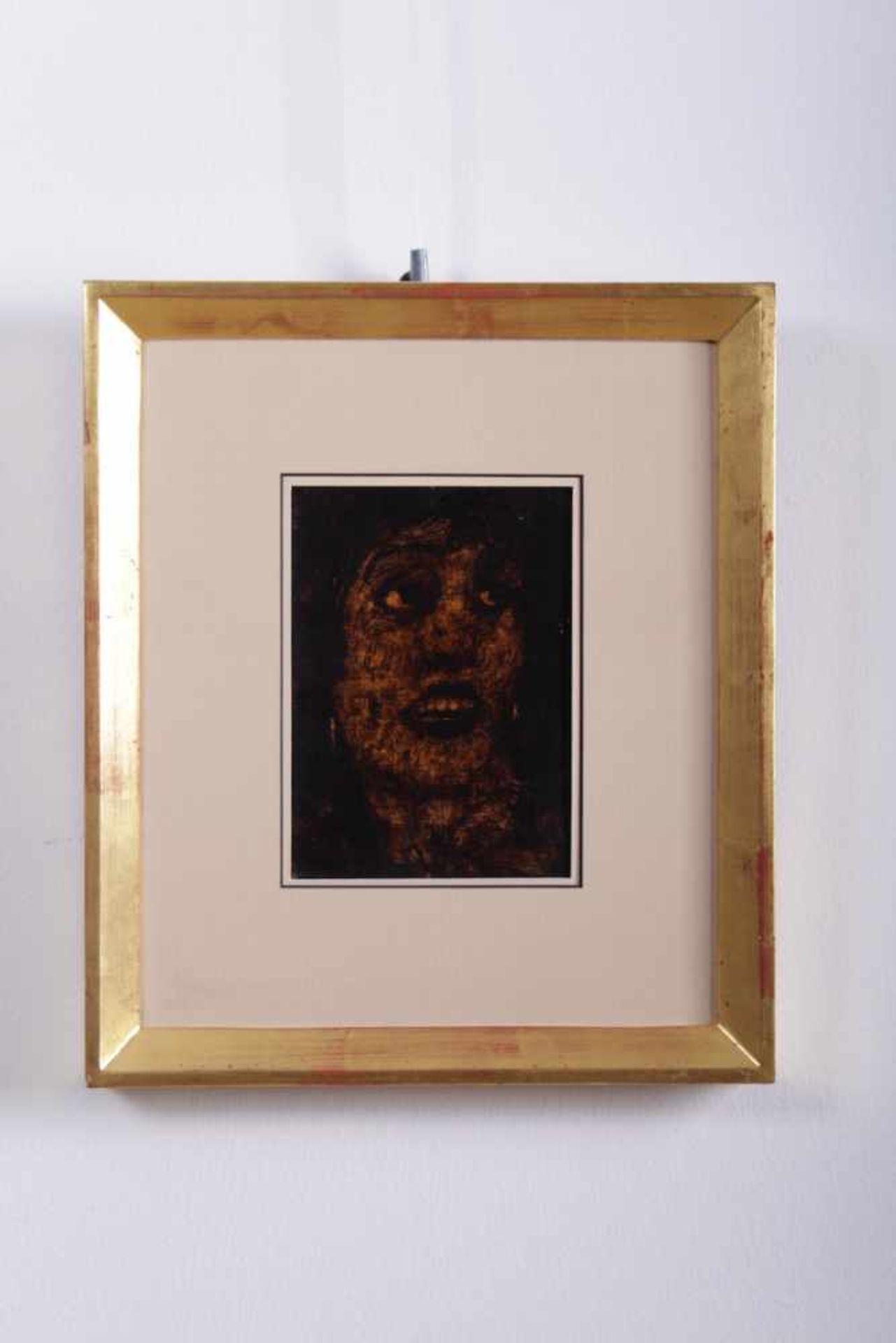 Los 58 - Alfons Walde 1891-1958, Teerzeichnung auf Karton, Damenportrait, Nachlassstempel auf der
