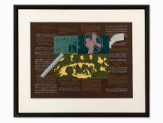 R. B. Kitaj, Heart, Farbserigrafie, 1966 Farbserigrafie auf braunem Velin. Großbritannien, 1966.