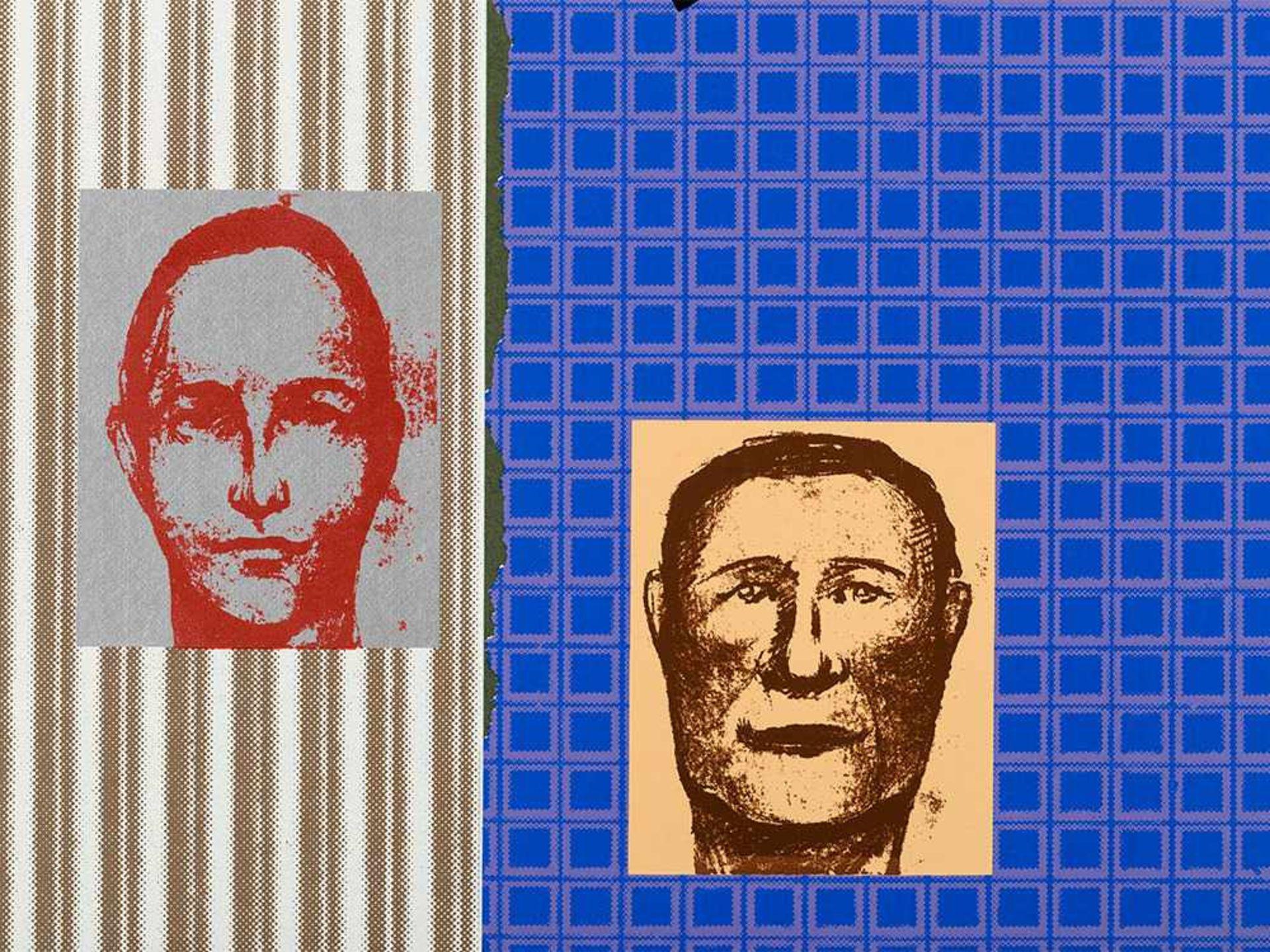 Los 78 - R. B. Kitaj, In His Forthcoming Book, Farbserigrafie, 1967 Farbserigrafie auf grünem Velin.