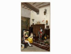 Ricardo de los Rios (1847-1929), Im Atelier des Malers, 1872 Öl auf Leinwand, doubliert. Spanien,