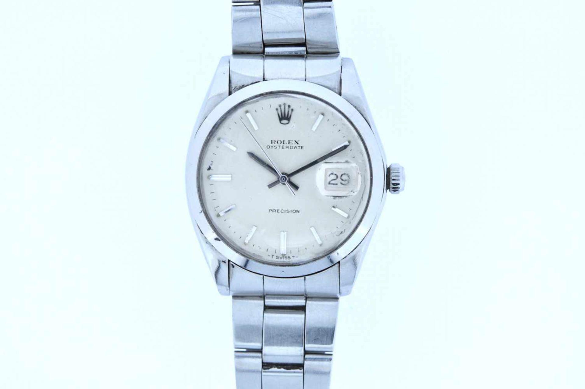 Los 6 - Rolex Rolex Date Precision, Ref.6694, Stahl/Stahl, Oysterband, Handaufzug, Plexiglas, Glas stark