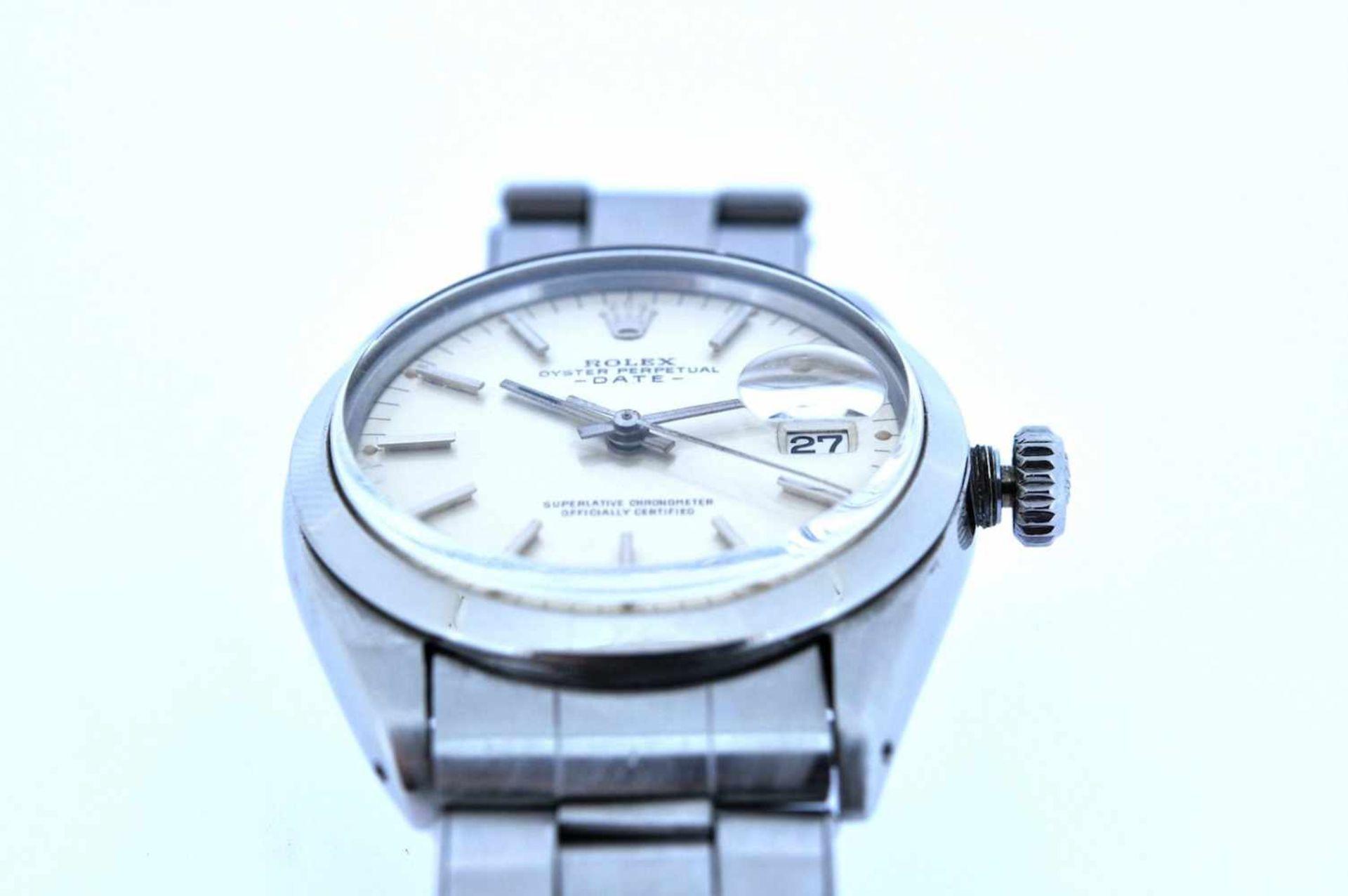 Los 7 - Rolex Rolex Date Precision, Ref.1500, Stahl/Stahl, Oysterband, Handaufzug, Plexiglas Rolex Rolex