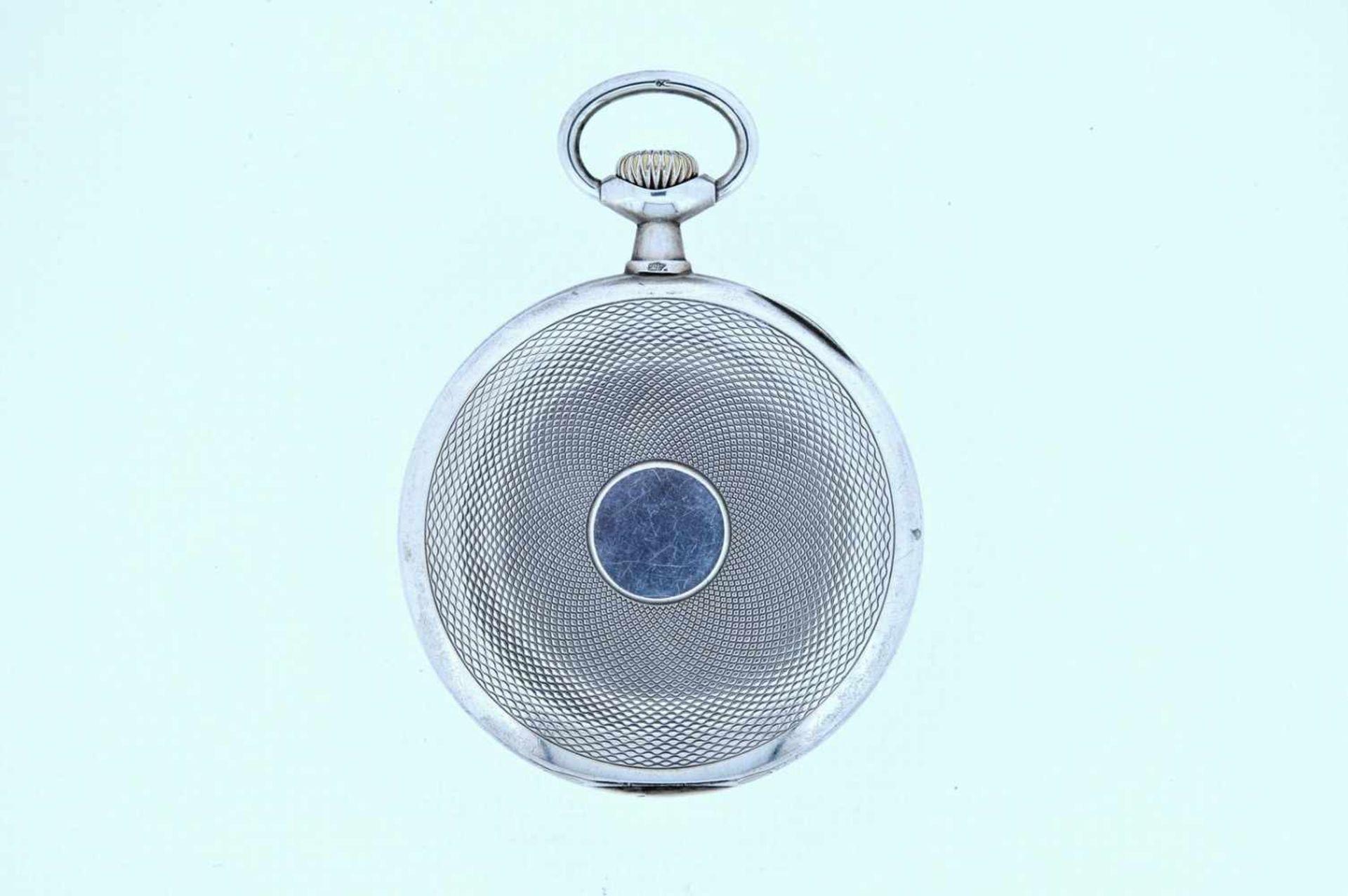 Los 32 - Silberne Taschenuhr Silberne Taschenuhr mit kleiner Sekunde, Omega, Breguetspirale, Ankerwerk,