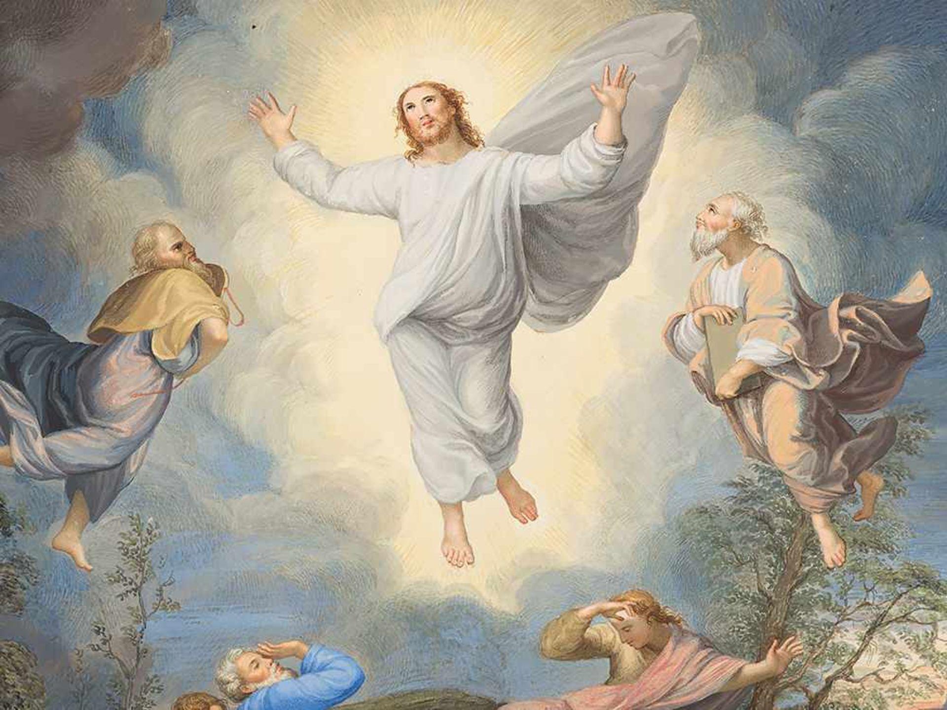 """Los 68 - Nach Raffaels """"Transfiguration"""", Gouache, Italien, 19. Jh. Gouache auf Karton. italienische"""