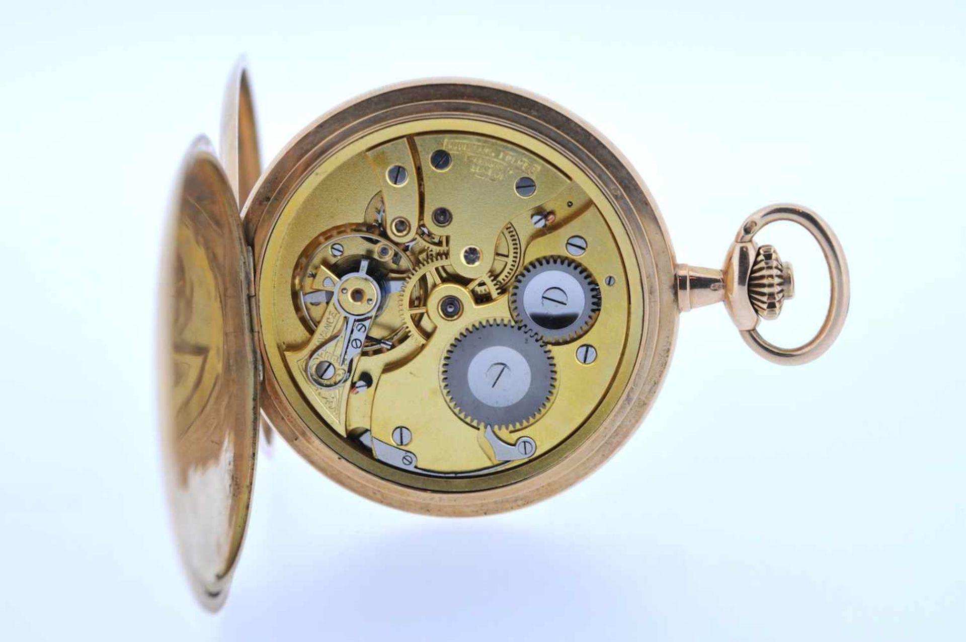 Los 31 - Goldene Herrentaschenuhr Goldene Herrentaschenuhr mit Springdeckel und kleiner Sekunde, Audemars