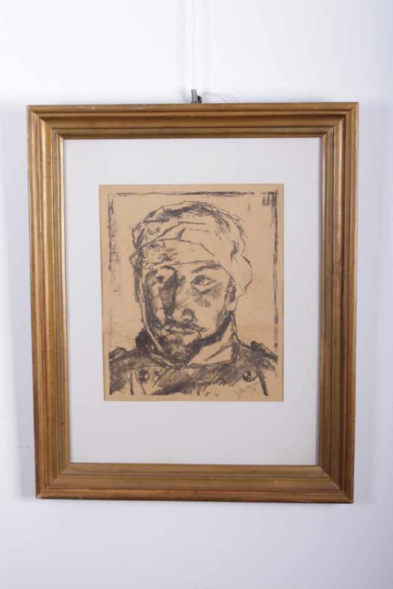 Los 59 - Max Beckmann 1884-1950, Lithographie, Portrait eines verletzten Soldaten, signiert unten rechts,