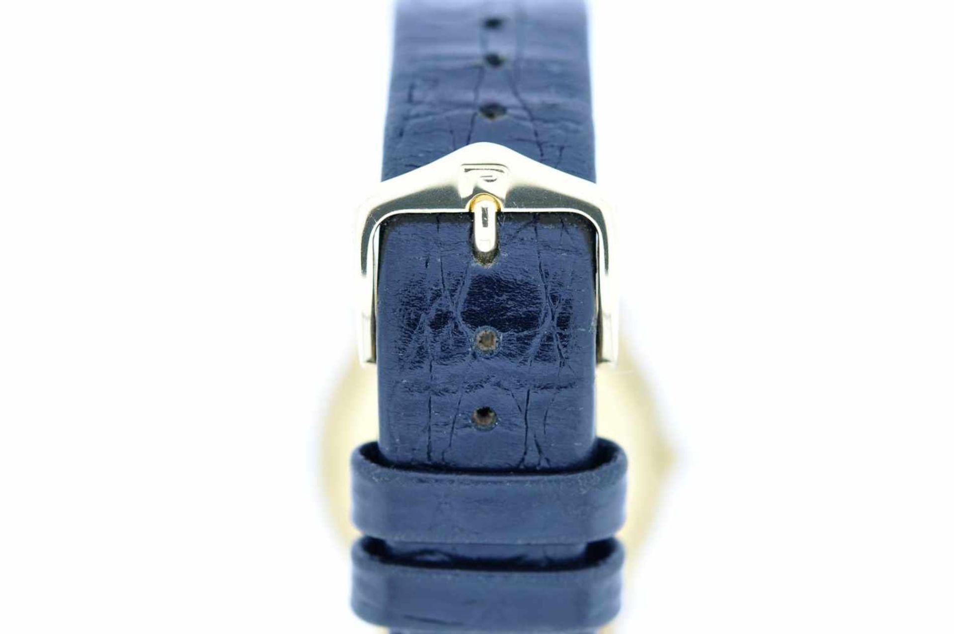 Los 25 - Alpina Goldene 18karätige Armbanduhr an Lederband, Alpina President, Automatik, Ankerwerk,