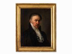 Porträt eines Richters, Ölgemälde, Spanische Schule, um 1800 Öl auf Leinwand, doubliert. Spanien,