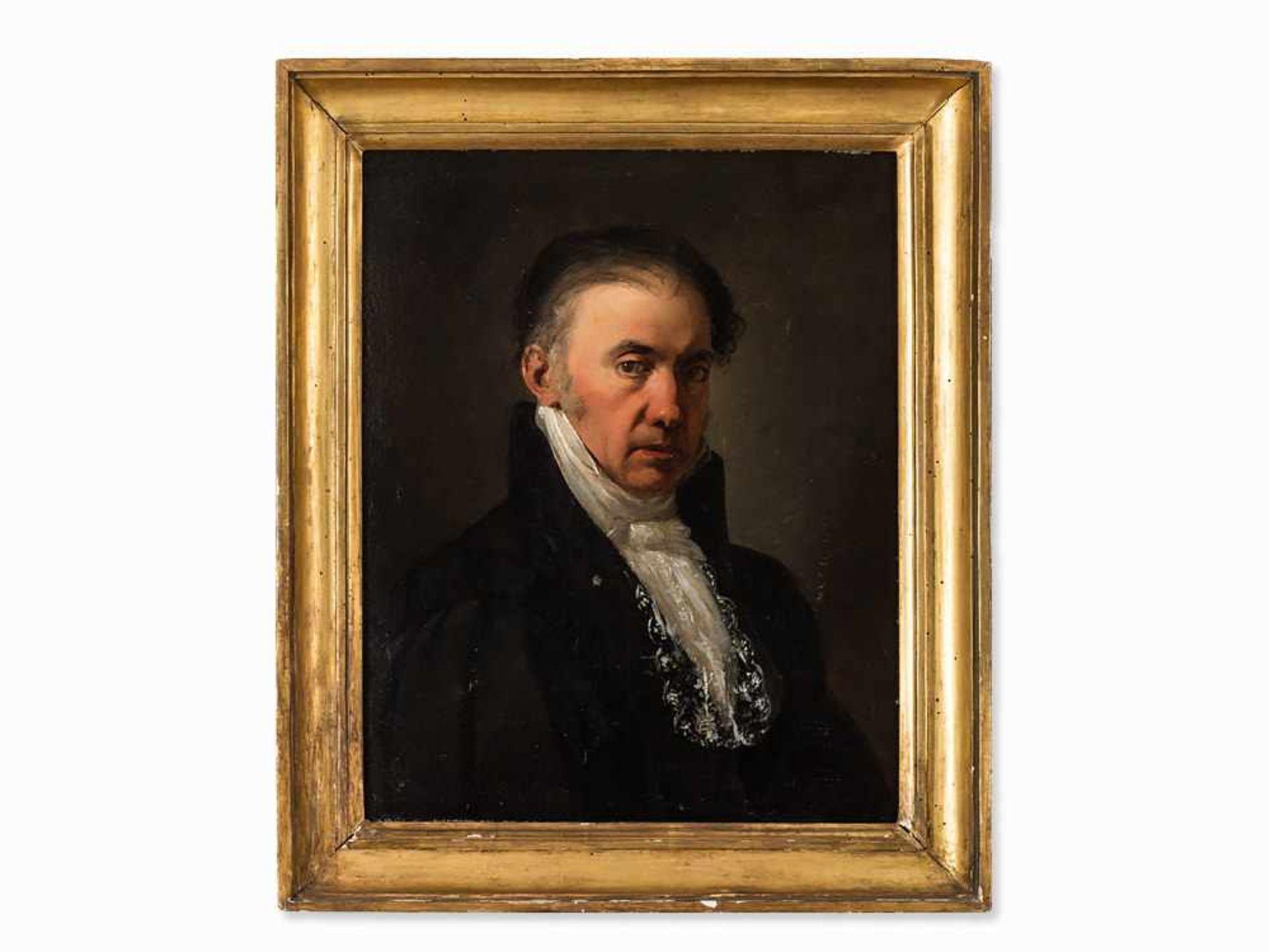 Los 63 - Porträt eines Richters, Ölgemälde, Spanische Schule, um 1800 Öl auf Leinwand, doubliert. Spanien,