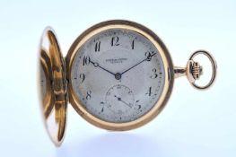Goldene Herrentaschenuhr Goldene Herrentaschenuhr mit Springdeckel und kleiner Sekunde, Audemars