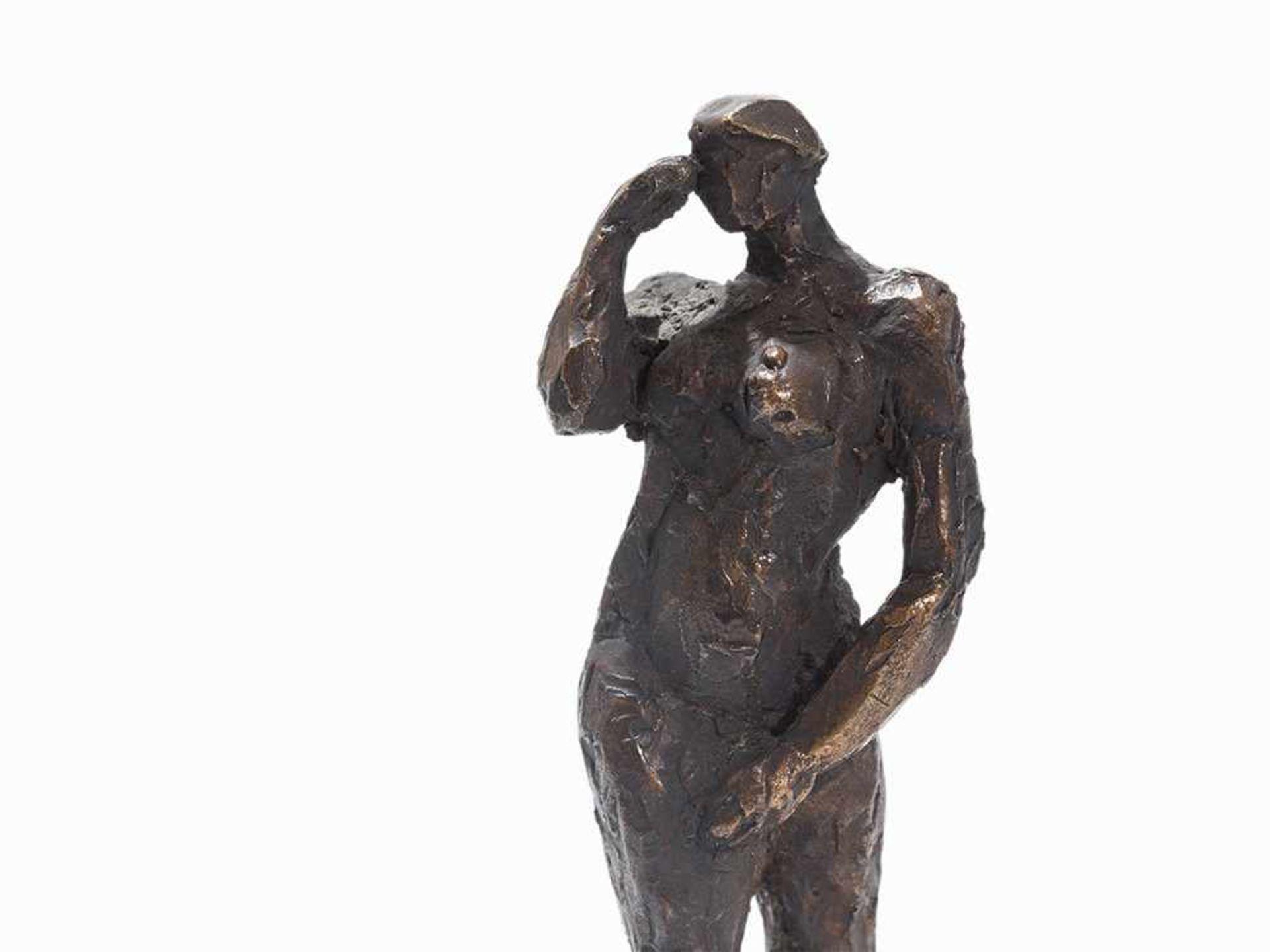Los 94 - Berndt Wilde (geb. 1946), Bewegung, Bronzefigur, 2004 Bronze, dunkelbraun patiniert. Deutschland,