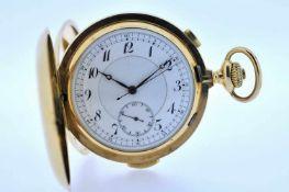 Minutenrepetierer Goldene 18 karätige Taschenuhr mit Minutenschlagwerk, kleiner Sekunde und