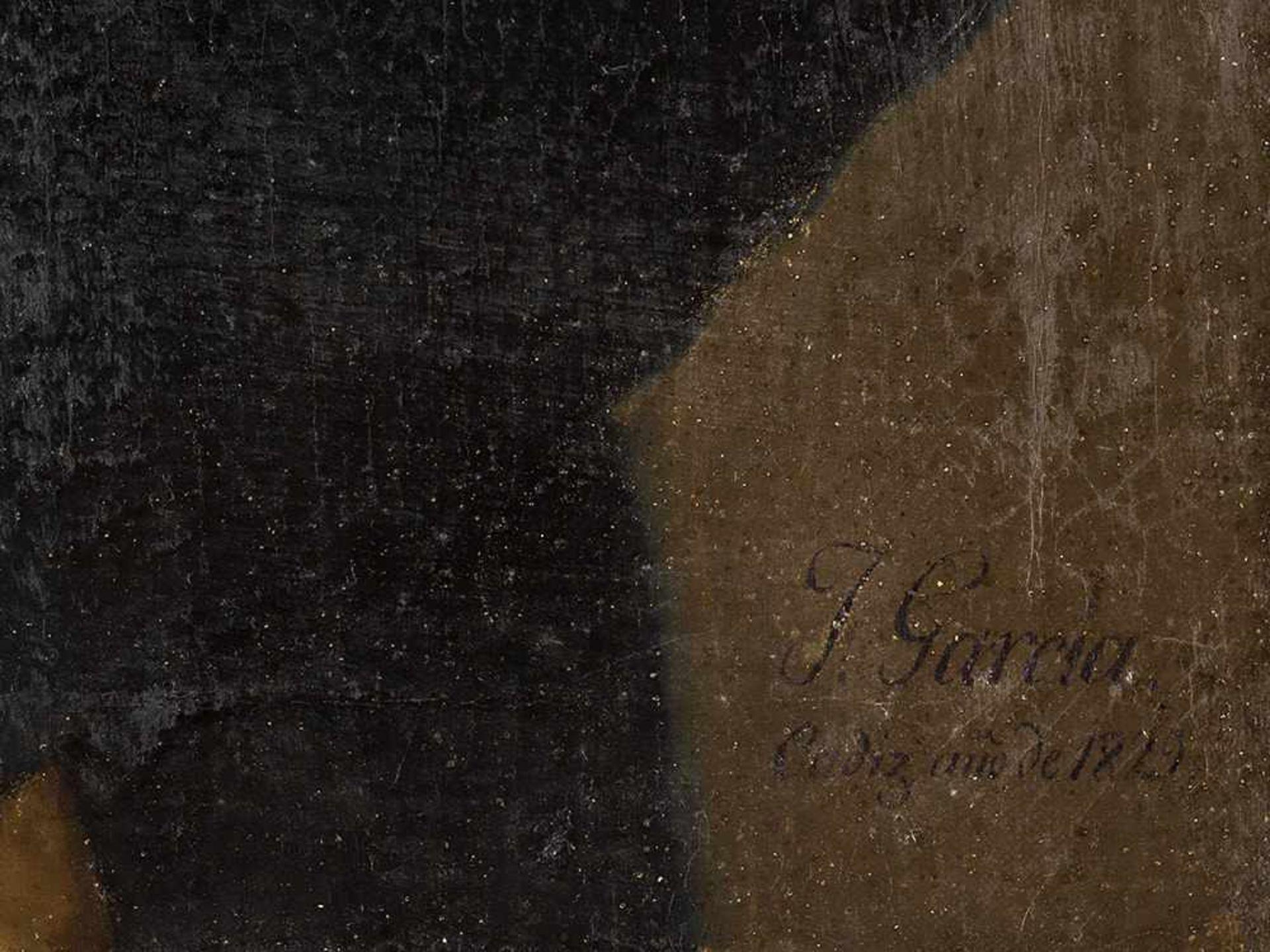 Los 64 - José Garcia Chicano (1775-1858), Porträt eines Herrn, Öl, 1829 Öl auf Leinwand. Spanien, Cádiz,