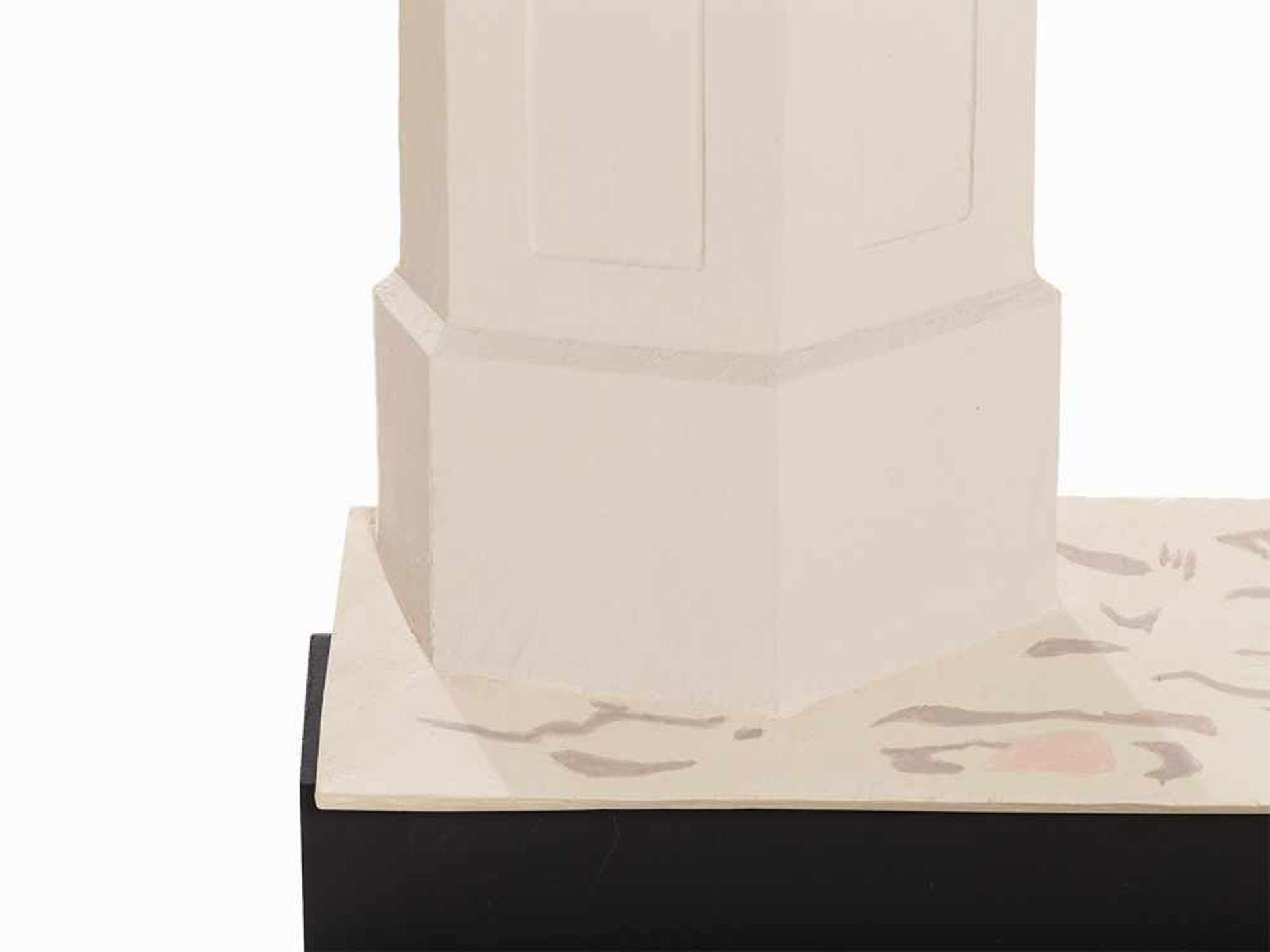 Los 90 - Albert Ricken (geb. 1970), Felicitas, Gipsskulptur, 2007 Gips, partiell farbig gefasst,