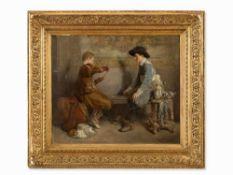 Roman Ribera Cirera (1849-1935), Kartenspieler, Öl, um 1890 Öl auf Leinwand. Spanien, um 1890.