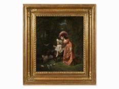 Jean-Francois Gose (1827-1870),Erste Reitstunde, Öl, 1860 Öl auf Leinwand, randdoubliert.