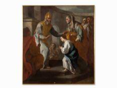 Pietro Bardellino, Tempelgang Marias, Öl, um 1780 Öl auf Leinwand, doubliert. italien, um 1780.