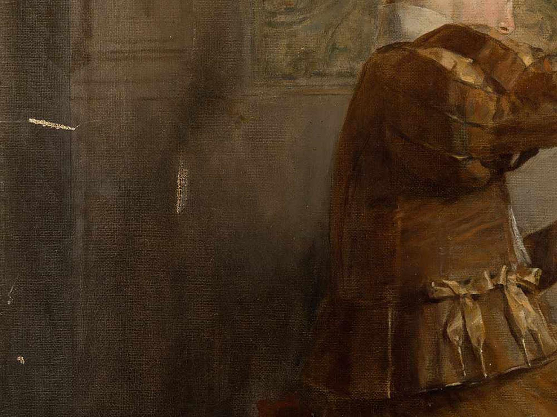 Los 69 - Roman Ribera Cirera (1849-1935), Kartenspieler, Öl, um 1890 Öl auf Leinwand. Spanien, um 1890.