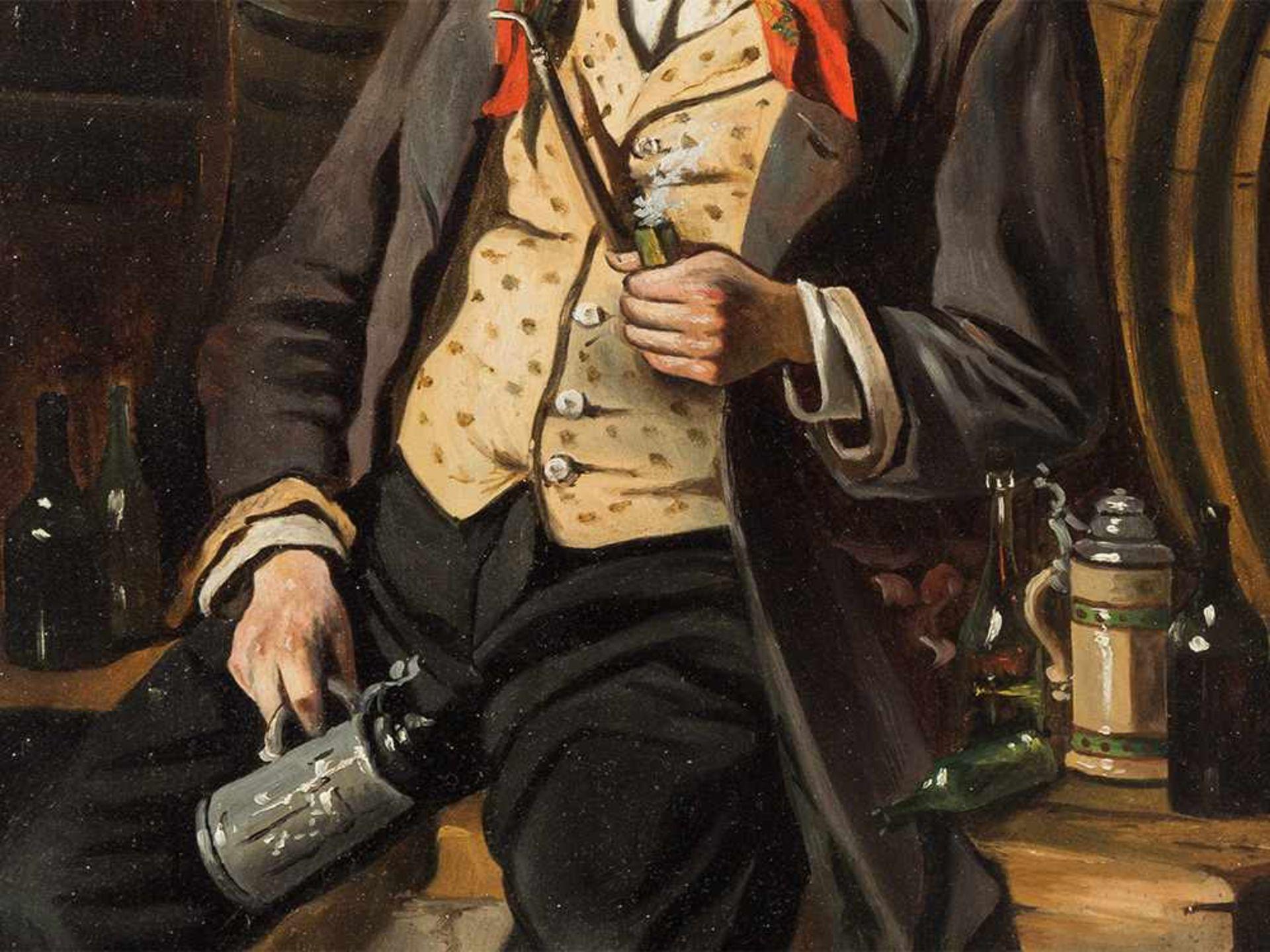 Los 66 - Hermann Kern (1838-1912), Die Weinprobe, Öl, um 1900 Öl auf holz. Österreich, um 1900. hermann