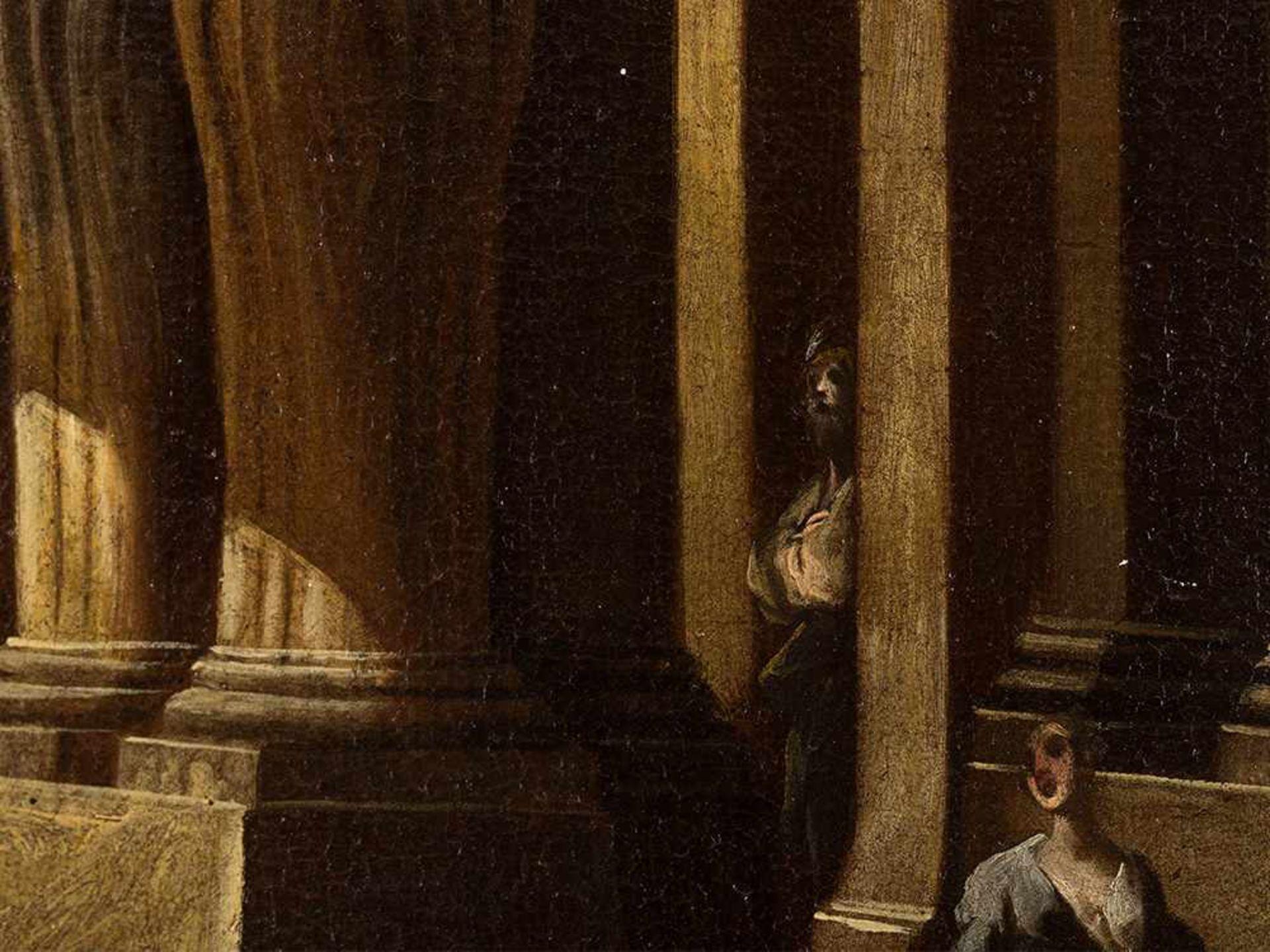 Los 67 - Italienische Schule, Architekturcapriccio, Öl, 17. Jahrhundert Öl auf Leinwand, doubliert. italien,