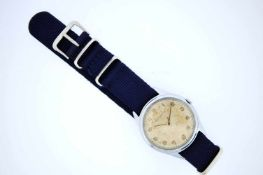 Jaeger LeCoultre Edelstahl Armbanduhr, Jaeger LeCoultre, Handaufzug, Zifferblatt mit schöner Patina,