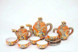 Teeservice Japanisches Teeservice, um 1930, für 5 Personen.
