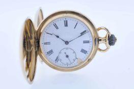 Taschenuhr Goldene Herrentaschenuhr, vergoldetes Ankerwerk mit Breguetspirale, Feinregulierung,