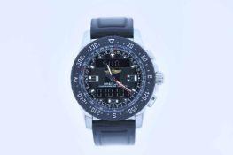 Breitling Edelstahl Herrenarmbanduhr, Breitling Airwolf Raven Special Edition Superquartz,