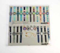Swatch, 2 Displays mit 24 Uhren, Swiss made, neuwertig Swatch, 2 Displays wih 24 Watches, Swiss