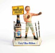 Plasto MFG Chicago, Werbefigur Pabst-Bier, USA, H 39 cm, Blech, guter Zustand Plasto MFG Chicago,