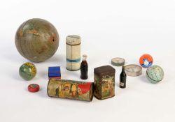 Konvolut Blechdosen + Zubehoer, Netherlands u.a., 3,5-13 cm, LM, Z 2+/2- Bundle Tin Cans +