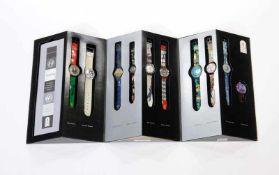 Swatch, Set Olympic Legends, Swiss made, Box 35,5 cm hoch, Okt Z 1, Z 1 Swatch, Set Olympic Legends,