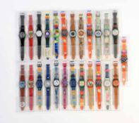 Swatch, 25 verschiedene Damenuhren, Swiss made, OVP Swatch, 25 several Ladie's Watches, Swiss