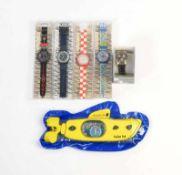 Swatch, 5x Scuba + Goldfinger, Swiss made, Okt Z 1, Z 1 Swatch, 5x Scuba + Goldfinger, Swiss made,