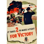 War Poster American Airlines WWII Victory Pilot USA