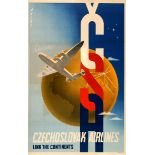 Advertising Poster CSA Czechoslovak Airlines