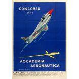 Propaganda Poster Accademia Aeronautica Italy 1957