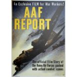 War Poster AAF Report WWII USA