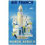 Travel Poster Air France North Africa Villemot