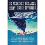 War Poster The Flying Dutchman Helps Liberate Japan WWII