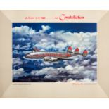 Advertising Poster TWA Lockheed Constellation