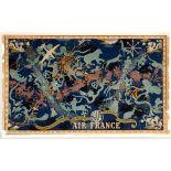 Travel Poster Air France Night Sky Constellation Boucher