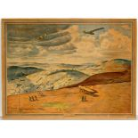 Advertising poster Gliding Gilder Airplane Pitchforth WWII