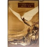 Advertising Poster Les Ailes Wings Icarus Aviation Georges Villa