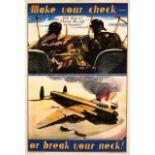 Propaganda Poster Air Force Pilot Safety Make Check Avro Lancaster