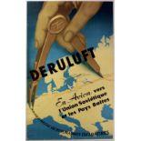Advertising Poster Airline Deruluft