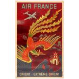 Travel Poster Air France Orient & Extreme-Orient East & Far East.