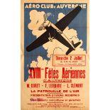 Advertising Poster Aero Club dAuvergne Air Show